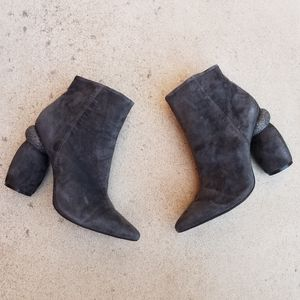 Jeffrey Campbell SARCOSA Grey Pointed Toe Boots S3